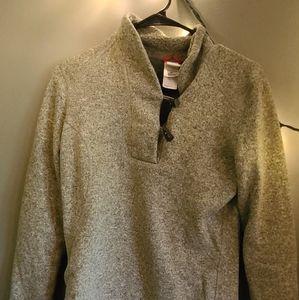 Green TNF sweater